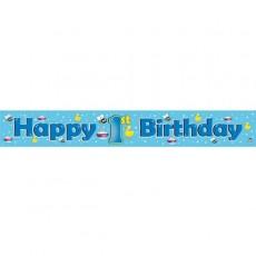1st Birthday Banner Blue 1