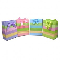 Gift Bag Stripe Bow Small 1